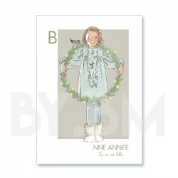 Carte de voeux artistique pour souhaiter une bonne année, dessin original by.bm.  Bonne année - la vie est belle !