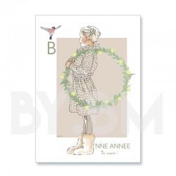 Carte de voeux artistique pour souhaiter une bonne année, dessin original by.bm