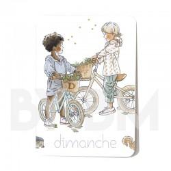 Cartelette  dimanche de l'ensemble de 7 cartes aimantées 10,5 X 7,5 cm des jours de la semaine