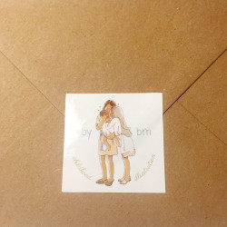 Sticker labels and enveloppes