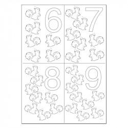 Dates à colorier - 06 07 08 09