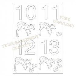 Dates à colorier - 10 11 12 13