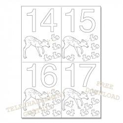 Dates à colorier - 14 15 16 17