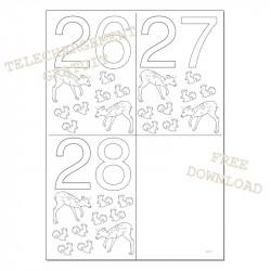 Dates à colorier - 26 27 28
