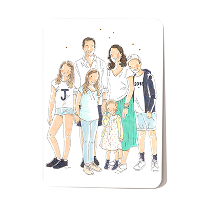 custom illustration from photo on order